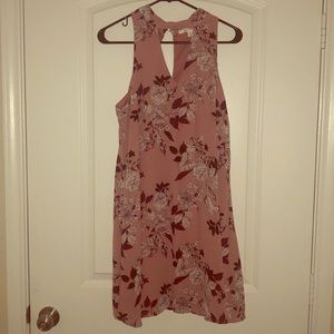 Pink & Maroon floral Sun dress - worn once